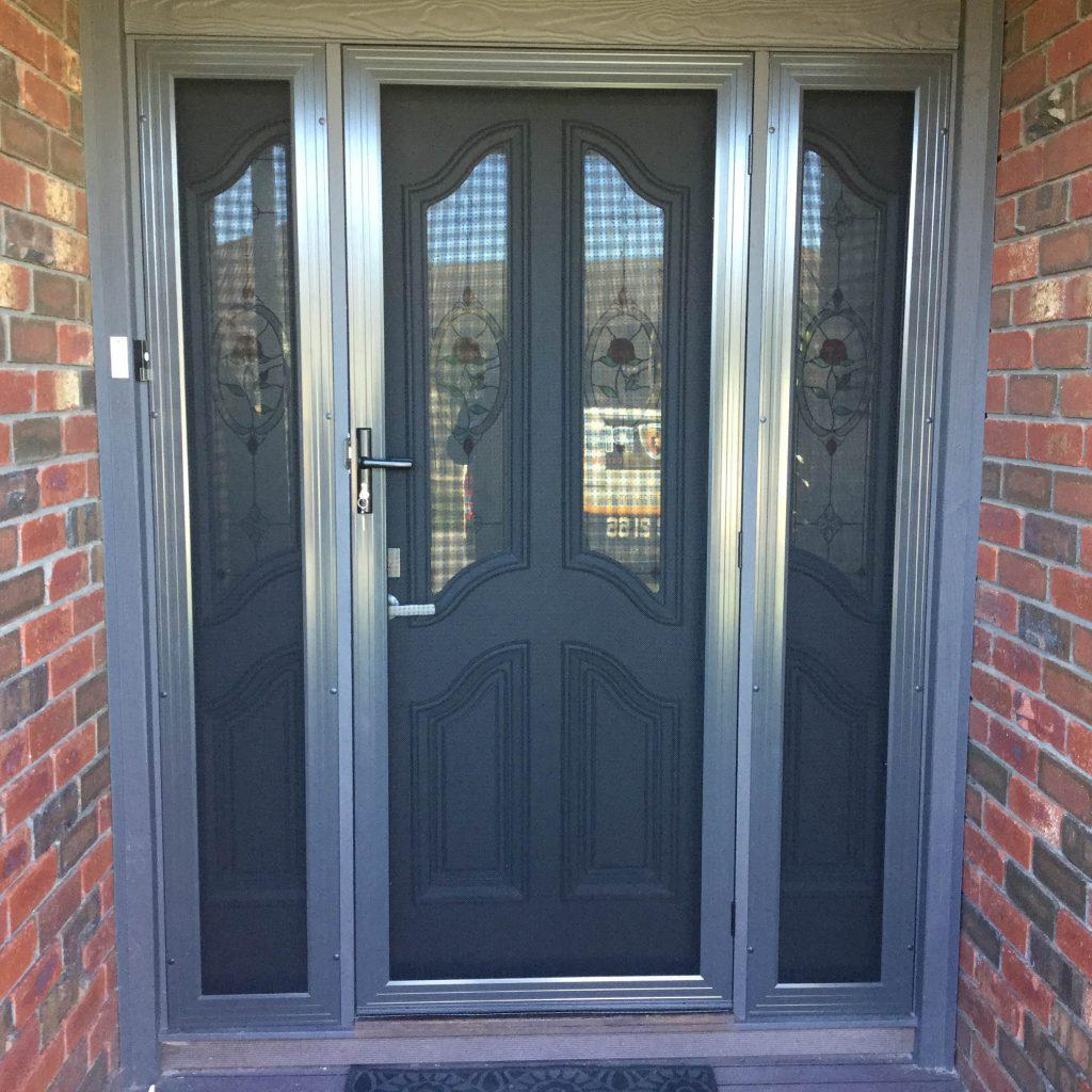 Stainless steel door with Panels
